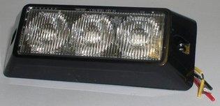 Xtrek 3 LED ORANJE STROBOSCOOP flitser zwaailamp 12-24 volt vlakke montage