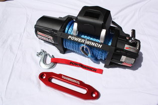 Power Outback Lier PRO 12000 lbs. - 5442 Kg. 12 volt Sythetisch touw