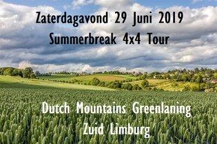 Zaterdagavond 29 Juni 2019 SummerBreak 4x4 Tour Zuid-Limburg.