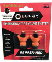 COLBY VALVE Emergengy ventielen rood, set 2 stuks.