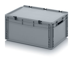 OPBERGBOX Xlarge high met deksel 60x40x28,5 cm. Grijs