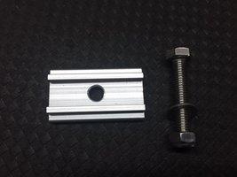 KOALA CREEK® aluminium schuifplaat en RVS bout+moer+schijf