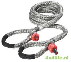 LIROS OffRoad lier-verleng touw 12 mm - 12 mtr met 2 x soft shackle met protector