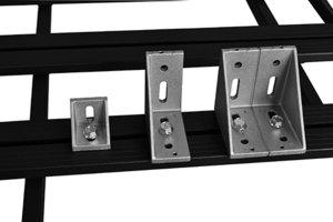 UPRACKS 63-A08787 Aluminium hoeksteun 87x87x87 mm.