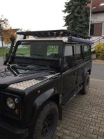 Land Rover Defender 110 roofrack - dakrek 285 X 148 cm. UPRACKS hoog model