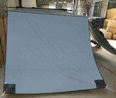 KOALA CREEK EXPLORER luifelvoorwand grijs 250x200 cm. Rip-Stop polyester/katoen