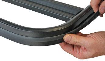 UPRACKS 63-A016 Dakrekrand T gleuf PVC profiel per meter (profiel om dakrek)