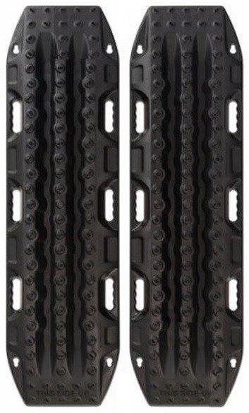 MAXTRAX 4x4 rijplaten - zandplaten ZWART - BLACK met riemen (2 stuks)